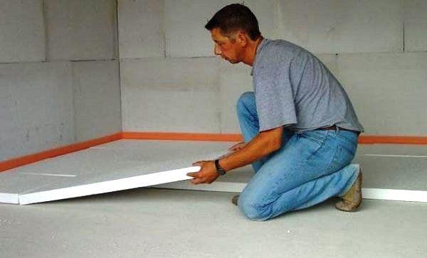 утеплить бетонный пол пенопластом