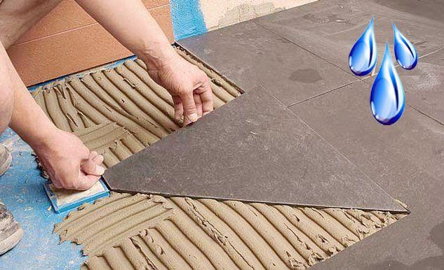 Плиточный клей и повышенная влажность