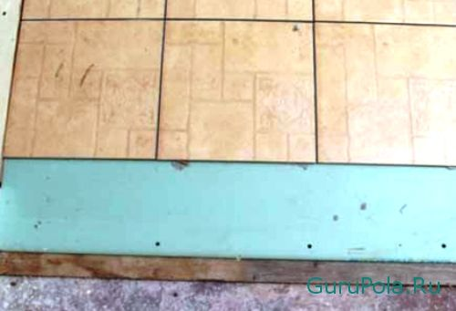 Монтаж плитки на деревянный пол выровненный гипсокартоном
