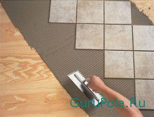 Укладки кафеля на деревянный пол