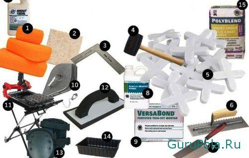 Инструменты для кладки плитки