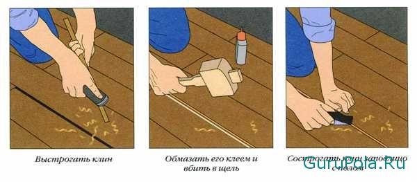 Избавление от щелей в деревянном полу