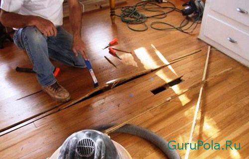 Выявления дефектов в деревянном полу