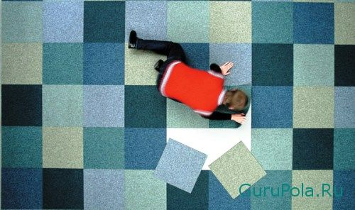 ковролин плитками
