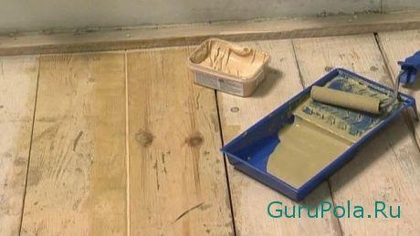 шпаклюем деревянный пол