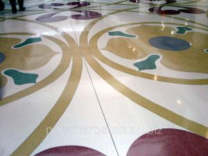 Монтаж бетонно-мозаичных полов
