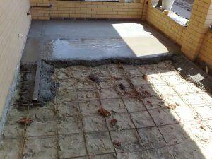 Черновой бетонный пол