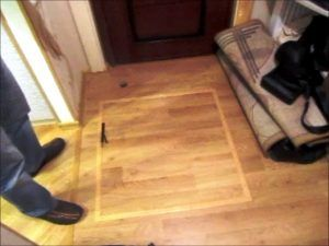 скрытый люк в полу
