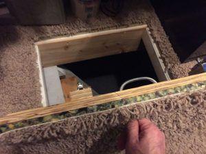 Потайная дверца в полу