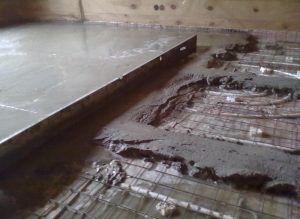 Высыхание бетонной стяжки