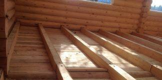 Чистовой пол деревянного дома