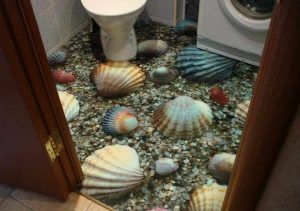 3Д пол туалет