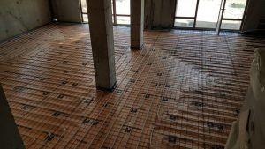 Монтаж теплого пола на бетонное основание