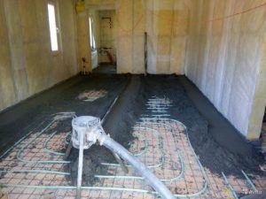 Полусухой цементно-песчаный раствор