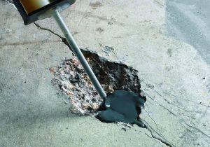 Ремонт трещин бетонного настила