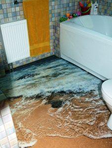 Устройство наливного пола в ванной