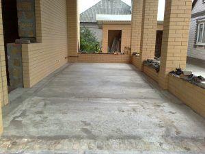 бетон на веранде
