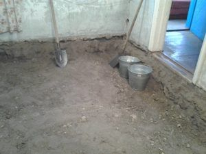 Подготовка грунтового основания