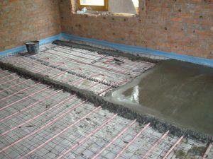 Теплй пол бетон