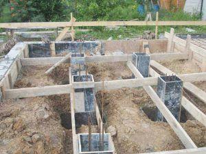 заливки фундаментов под столбики