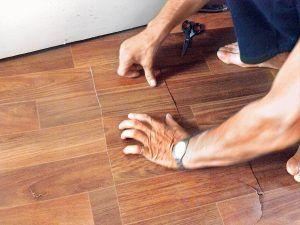 Ремонт линолеума с дырой своими руками