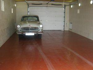 Окрашеный бетонный пол