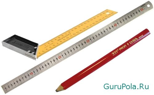 Инструменты для отметки и резки линолеума