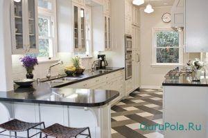 как класть керамическую плитку на кухне
