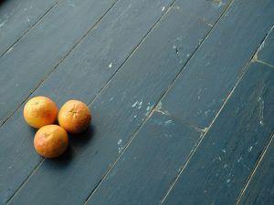 Окрашеный деревянный пол