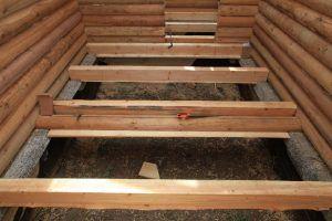 Гидроизоляция деревянного пола, установленного на столбах
