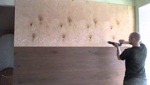 Кухня ламинат на стенах