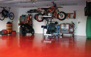 Полимерный наливной пол гараж