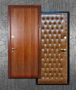 Отделка входной двери ламинатом