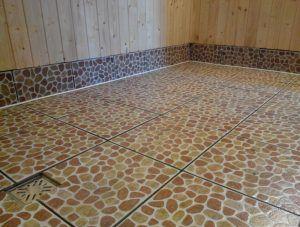 Укладка плитки на пол в бане