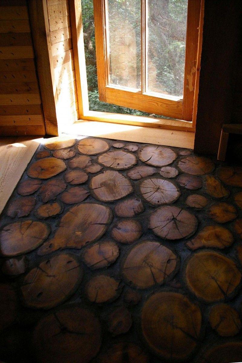 Пол из деревянных спилов: как сделать своими руками