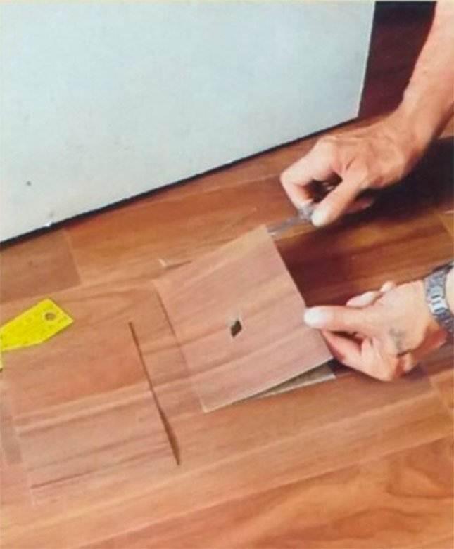 Как отремонтировать порванный линолеум своими руками