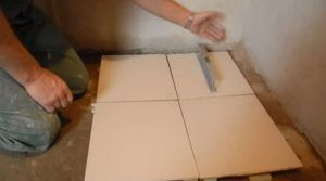 Укладка плитки в бане